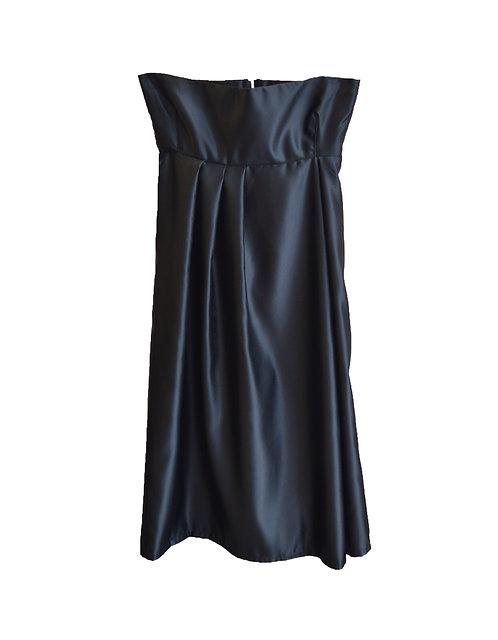 Satin warrior skirt black