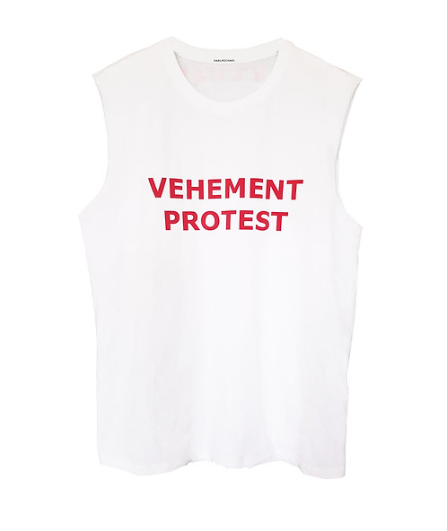 Vehement Protest Tank white