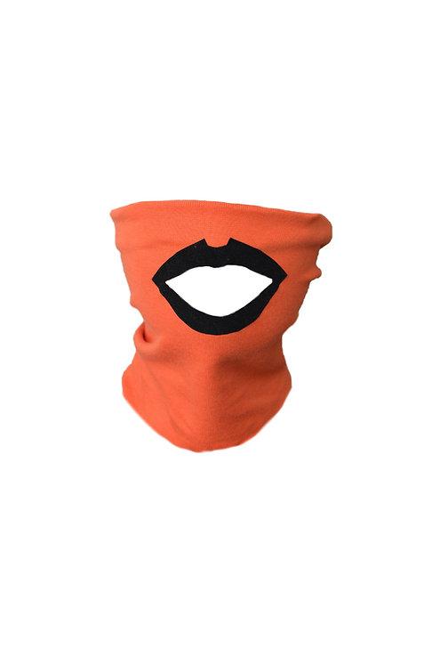 Lips mask orange/black
