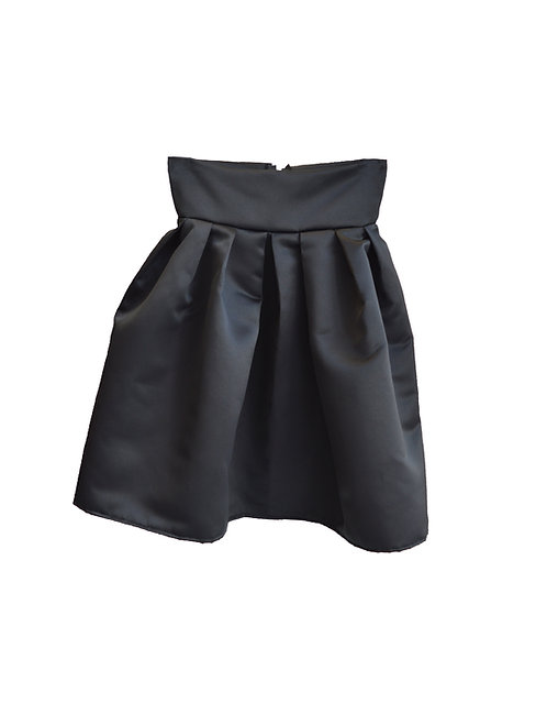 Satin skirt black (short)