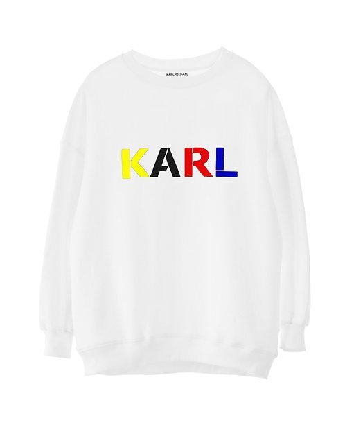 KARL sweater BAUHAUS white