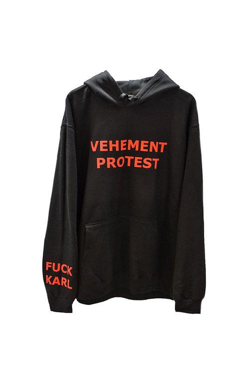 VEHEMENT PROTEST hoodie black