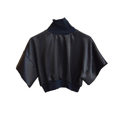 Satin croptop black