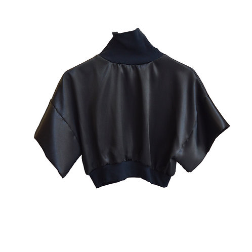 Satin croptop black