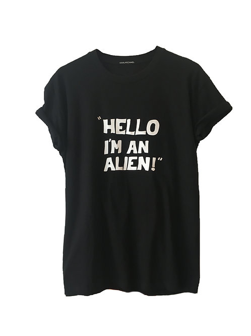 HELLO I'M AN ALIEN T-Shirt black