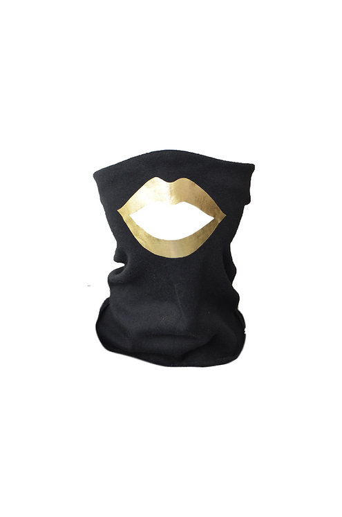 Lips mask black/gold
