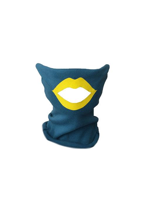 Lips mask petrol/yellow