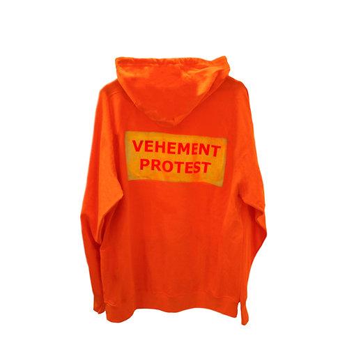 VEHEMENT PROTEST hoodie orange/gold