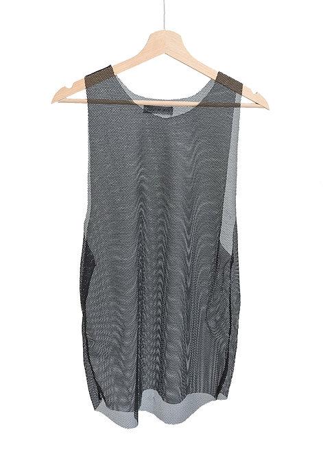 Black mesh tank top