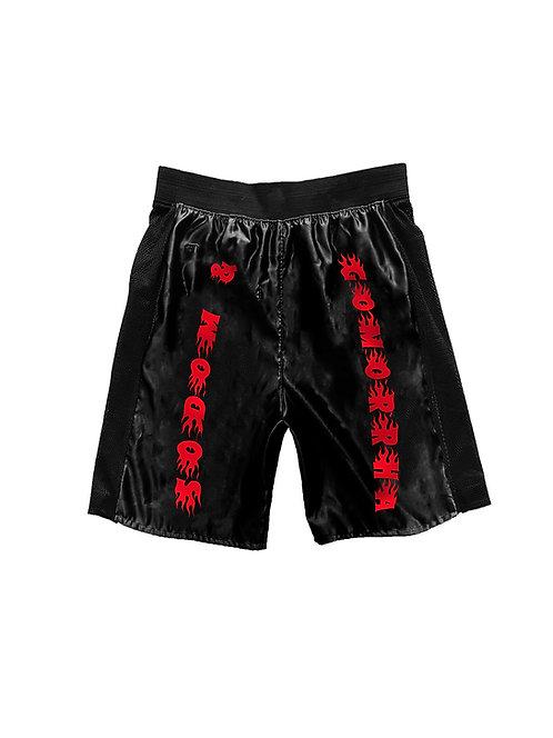 SODOM & GOMORRHA shorts black red