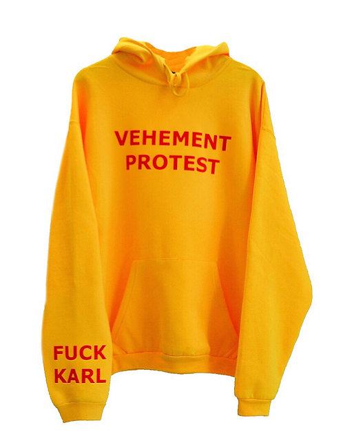 VEHEMENT PROTEST hoodie yellow