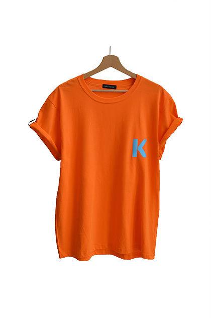 K T-shirt pastel orange