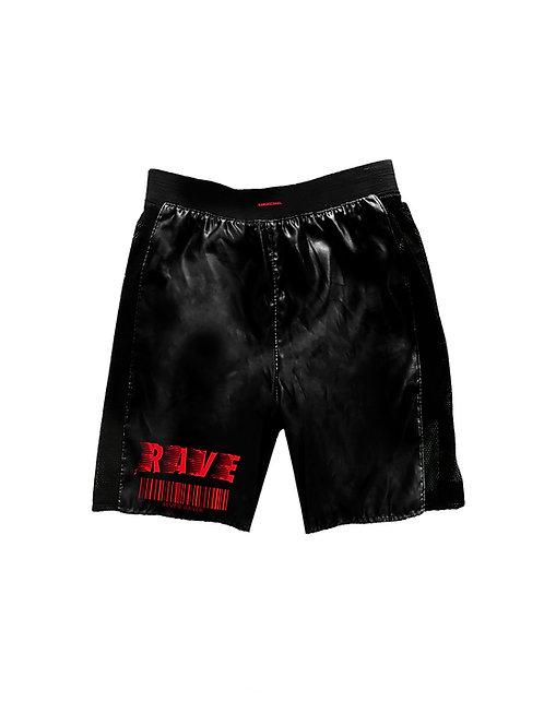 RAVE satin shorts