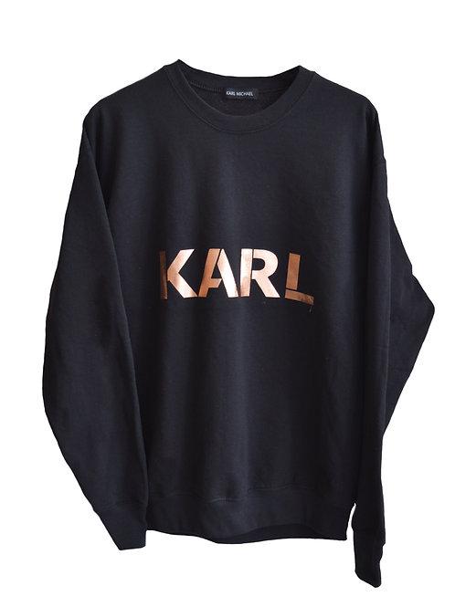 KARL sweater black (copper print)