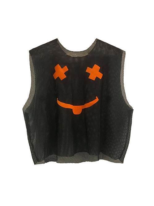 """Evil Boi"" mesh crop top"