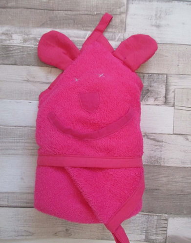 Bubulle Fushia Cape de bain bébé et jusqu'à 3ans ou +