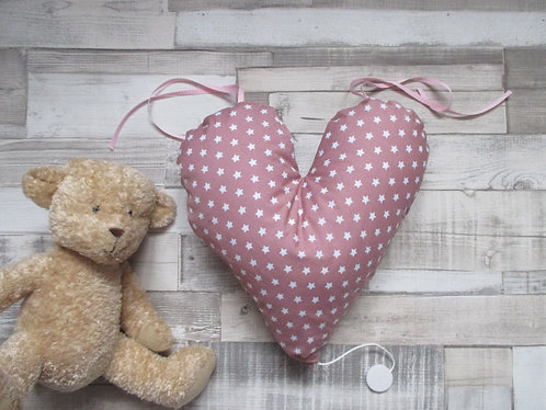 """Coussin Musical """"Coeur"""""""