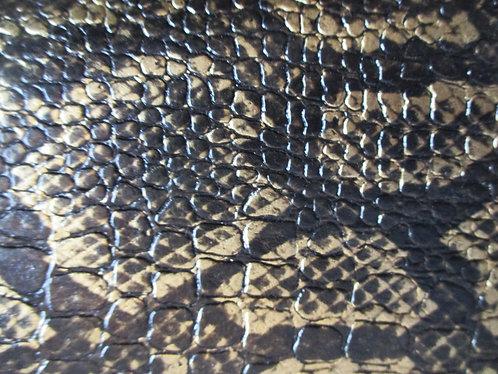 Simili cuir croco Noir / OR n°