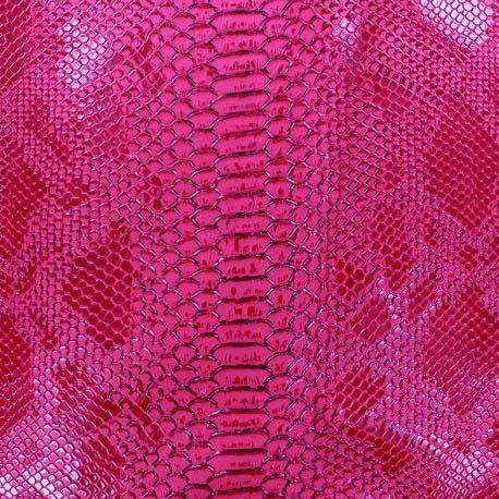 Simili cuir serpent fushia n°217