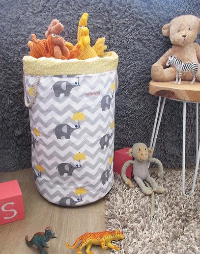 Grande Panière à jouet ou linge en tissu  (50cmx33cm) sur commande