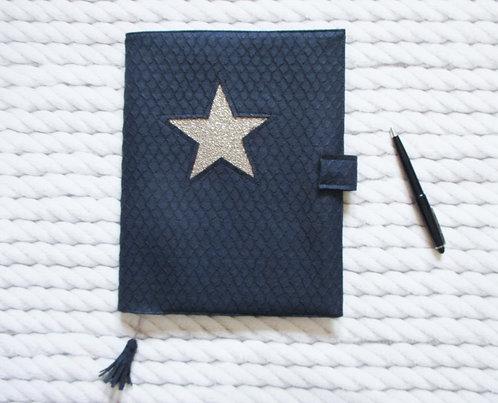 Agenda Bleu marine écaille 10 x 15cm