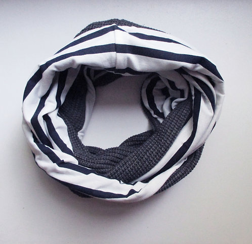 Grand Snood  n°07 Rayures