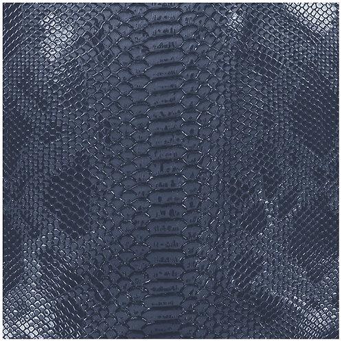 """Simili cuir N°16 """"serpent Bleu Marine"""""""