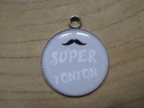 """Médaillons """"Super Tonton"""" (avec porte clé au choix)"""