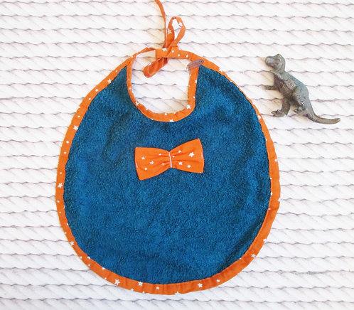 Bavette Bleu canard/orange
