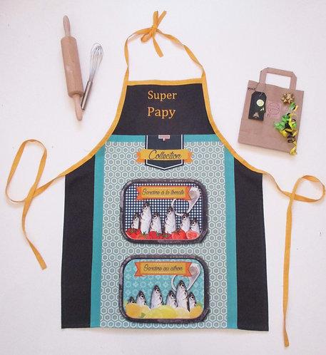 "TABLIER ""Sardines"" Super PAPY"
