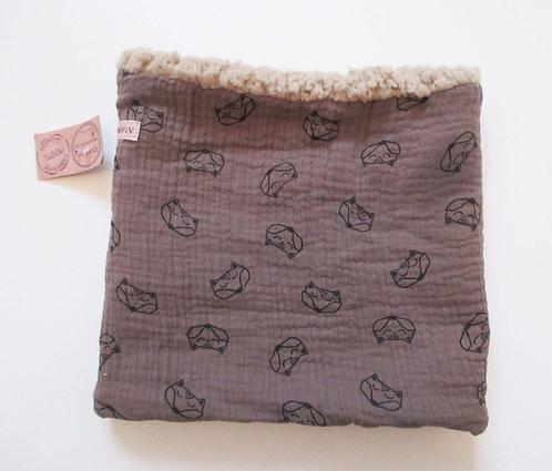 Tour de cou Mouton/n°52 et tissu n°