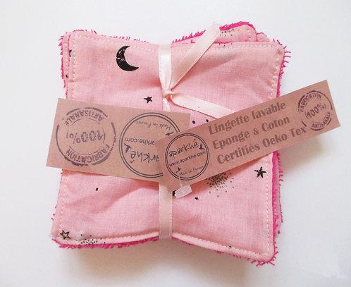 """Lingette""""Lune rose & Noire"""""""