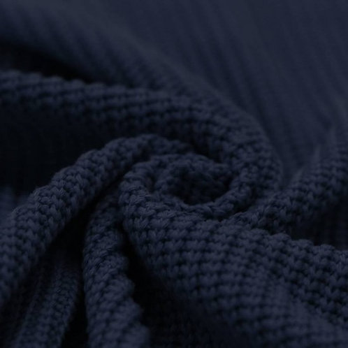 MAILLE TRICOT N°25 COTON Bleu marine