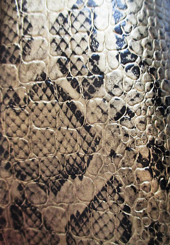 Simili cuir croco OR/ NOIR  n°293