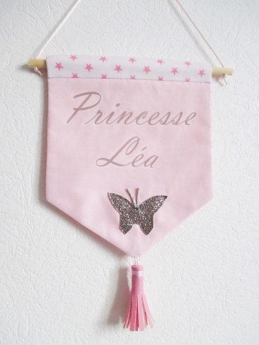 Bannière fille chambre bébé personnalisée