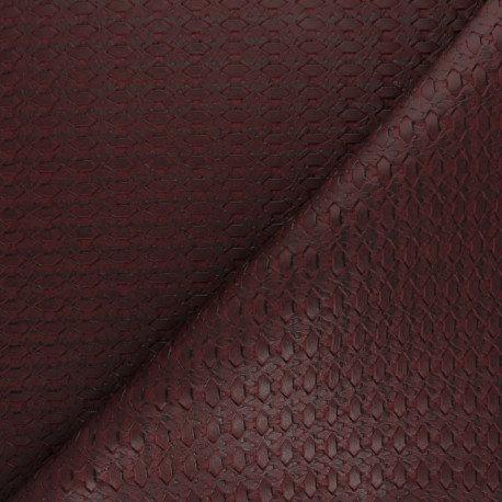 Simili cuir tressé bordeaux n°176