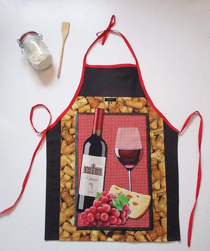"""TABLIER """"Vin rouge"""""""