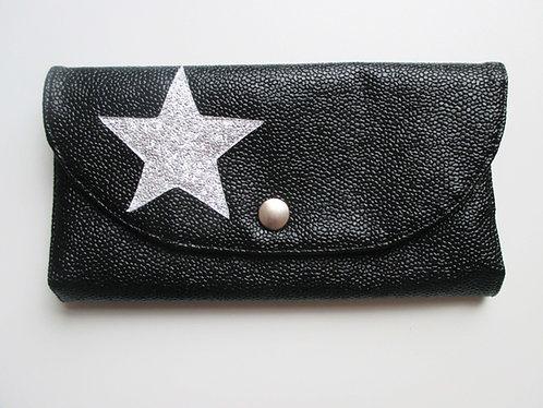 Portefeuille noir bubble (étoile argenté)
