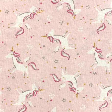 """Coton Licornes """"Rose"""" - Öko-Tex"""