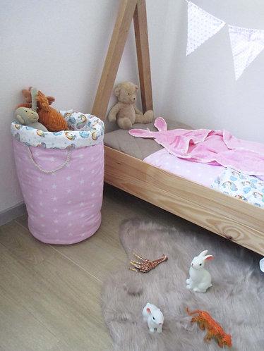Grande Panière à jouet ou linge en tissu  (50cmx36cm)