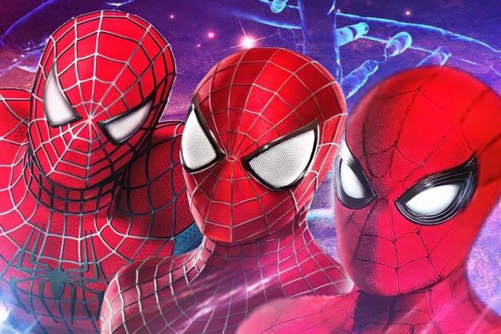 os tres homens aranhas juntos