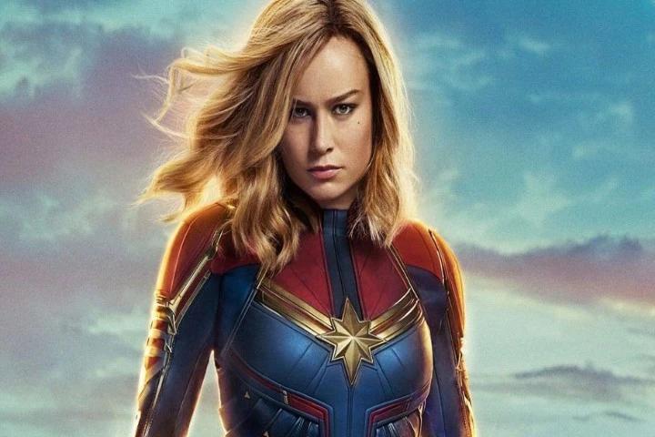 Capitã Marvel no filme imagem oficial