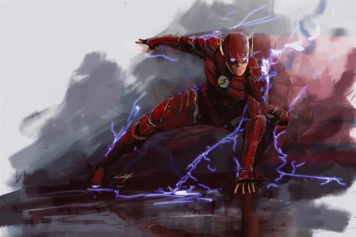 The Flash correndo com raios