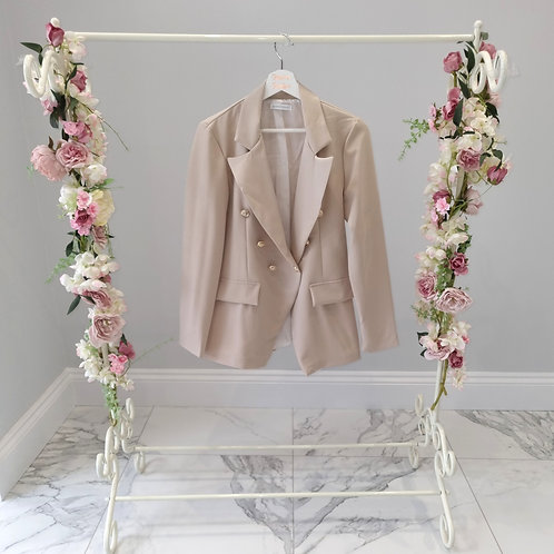 Nude Polly Blazer with Gold Buttons