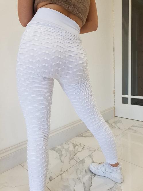 White Abbie Anti-cellulite Leggings