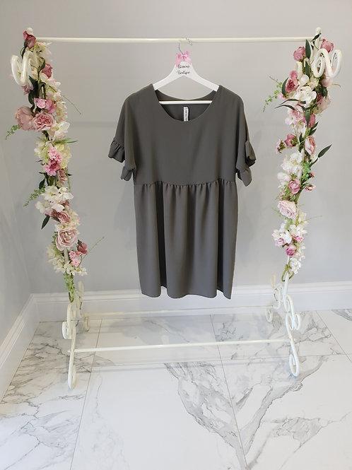 Heidi Khaki Summer Dress