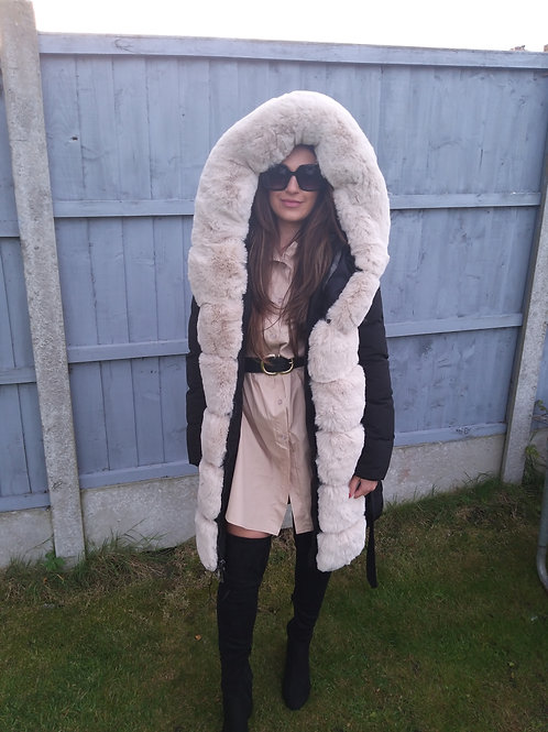 Catherine Puffer Coat with Fur and Hood