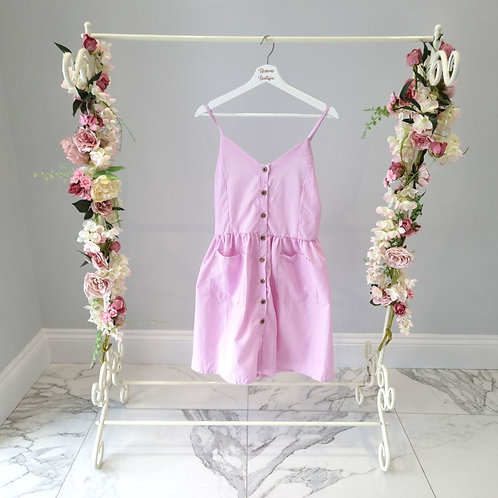 Gabriella Pink Strappy Striped Sun Dress