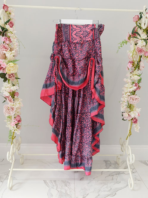 Grace Dip Hem BoHo Skirt