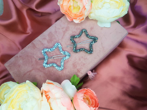 Star Crystal Clips